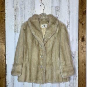 VTG 60s Mincara Russel Taylor Faux Fur Coat